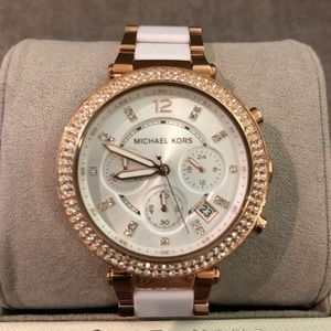 Michael Kors Women Two-Tone Glitz Parker Watch